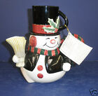 Fitz and Floyd Snack Therapy Snowman- New in Box -2063/43