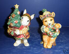 Fitz and Floyd Christmas Lodge Shakers- New in Box- 19/1363