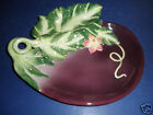 Fitz and Floyd Le Marche Eggplant Section Server- 58/268- New