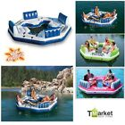4 Person Inflatable Float Raft Intex Water Pool Gaint River Tube Island Paradise