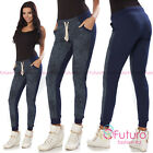 Womens Sport Pants Joggers Casual Bottoms Street Dance Trousers Sizes 8-12 2175