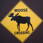 MOOSE CROSSING SIGN silhouette art decor home wildlife signs painting picture