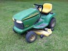 John Deere LT166 Riding Lawn Mower 46in deck with Extras