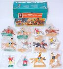 Timpo Toys 1:32 WILD WEST MOUNTED + STANDING COWBOYS in Baggy 100% MINT! MIB`76!