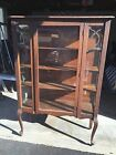 1920's VINTAGE DISPLAY CABINET / HUTCH - GLASS FRONT AND SIDES