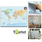 World Map Wall Sticker Decal Mural Wallpaper Home Decor Room Dry Erase Marker