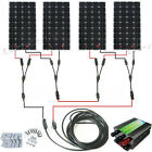 600Watts OFF GRID COMPLETE KIT 4x160W Mono Solar Panel for 24V RV Boat Charger