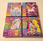 Lisa Frank 48 Piece Puzzles Lot Of 4 Rainbow Matinee, Angel, Skye, Markie New