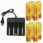 8x 3.7V 18650 9800mAh Li-ion Rechargeable Battery BTY + Smart Charger For Torch