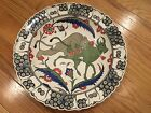 Kutahya Turkish Hand Made Porcelen Plate-Altin Cini-Lion and Cow