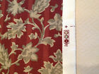 Upholstery Drapery Fabric Taupe Birch Camel Beige on Wine Burgundy Maroon 2 yrds