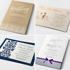 PersonalisedWedding Invitations Cards Postcard Day or Evening