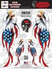 Eagle USA US Flag Sticker For Motorcycle Windshield Fork Fairing Lethal Threat