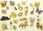 Vintage Figural Brooch Pin Lot JJ L.Razza Trifari dog butterfly bike cat 25 pc