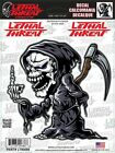 Skull Finger Sticker For Motorcycle Windshield Fairing Body Lethal Threat Decal