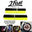 2FastMoto Spoke Wrap Kit Yellow Black Wraps Skins Covers Spoked Rim Suzuki