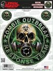 Skull Zombie Sticker For Motorcycle Windshield Fairing Body Lethal Threat Decal
