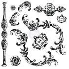 Prima Iron Orchid Desgins Clear Acrylic Decor Stamps Louis 814335