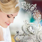 Silver Vintage Bridal Princess Austrian Crystal Tiara Wedding Crown Veil Hair