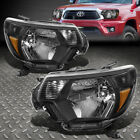 FOR 12 15 TOYOTA TACOMA BLACK HOUSING AMBER CORNER HEADLIGHT REPLACEMENT LAMPS