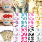 55pcs Letter A Z Alphabet Glitter Self Adhesive Crystals Stickers Stick On DIY