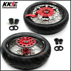 KKE 3.5/4.25 Supermoto Motard Wheels Rim Set For HONDA XR650R 2000-2008 CST Tire