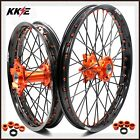 21/19 KTM MX COMPLETE WHEELS RIMS SET SX SX-F 250 350 450 525 2017 ORANGE/BLACK