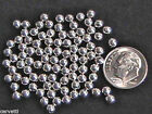 4mm Sterling Silver Round Beads 100