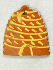 Hand Painted FOLTZ Pottery Redware Christmas Ornament - Beehive