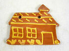 Hand Painted FOLTZ Pottery Redware Christmas Ornament - Schoolhouse