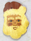 Hand Painted FOLTZ Pottery Redware Christmas Ornament - Santa Claus Face