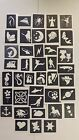 200 stencils for glitter tattoos airbrush face painting girls boys