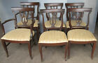 VINTAGE MID CENTURY  CHAIRS 1940's 1950's 6 WOODEN  SET