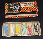 Vtg Parker Brothers Playing Pieces for Theyre off Horse Race Game METAL HORSES