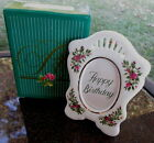 1989 AVON President's Club Birthday Gift PICTURE FRAME IN BOX Roses NEW Photo