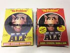 1987 Topps Alf Trading Cards Series 1 And 2 Complete Boxes