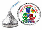 216 PJ MASKS BIRTHDAY PARTY FAVORS HERSHEY KISS LABELS