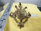Vintage Antique Unmarked Ornate LION Head BRASS Pull Handle Drawer GREAT Detail