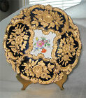 MEISSEN PORCELAIN PLATE CHARGER BOWL ROCOCO EMBOSSED GOLD HIGH RELIEF SUPERB.