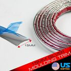 5ft 15mm Chrome Silver Moulding Trim Strip Car Fog Taillight Window Side Body