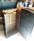 Vintage Antique Seward WONDERROBE Steamer Wardrobe Trunk Wooden Hangers 1920's