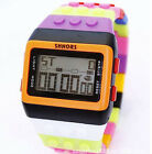 SHHORS Colorful Multi-function Digital Student Children Sports Watch LED Y8O4