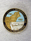 1987 Gold Filled Enamel DAR National Society Pin Daughters American Revolution