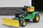 John Deere LT166 Riding Lawn Mower, 44 in snow plow and chains