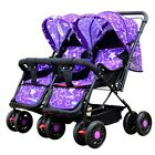 Hot Twin Baby Stroller Toddler Double Pram Pushchair Child Buggy Storage Basket