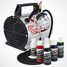 6 Primary Color Airbrush Hobby Kit Air Compressor Hobby Model T Shirt Paint Set