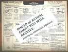 1933 Pierce Arrow TWELVE Series Silver Arrow Models AEA Tune Up Chart