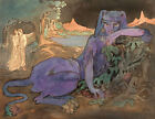 Pamela Colman Smith  The Blue Cat 1907  Giclee Fine Art Print  occult