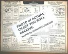 1932 1933 Willys-Overland SIX Model 6-90A Standard AEA Tune Up Chart LAST 1!