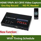 Live Streaming Game Video Capture Recorder HDMI Ypbpr CVBS for XBOX One PS3 TV